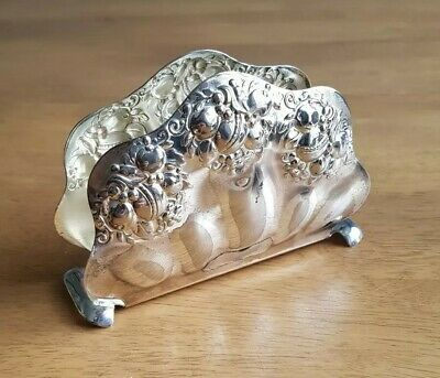Vintage. Silver Plated. Napkin/Letter Holder. Made in Germany by Quist.