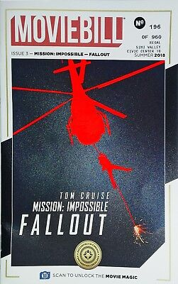 MISSION: IMPOSSIBLE FALLOUT MOVIEBILL TOM CRUISE NO. 196 of 960