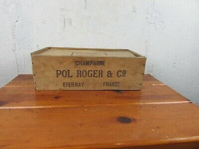 Champagne Box Pol Roger & Co Wine Wooden Vintage Epernay France Great