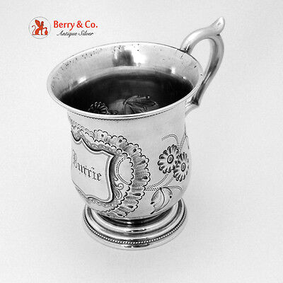 Coin Silver Christening Cup Burrie 1860