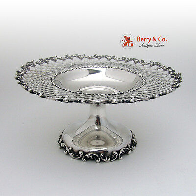 Louis XV Compote Cut Work Sterling Silver Shreve Crump Low 1900 Monogram S