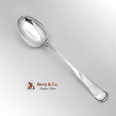 Huge Fiddle Thread Serving Spoon German 813 Silver 1878