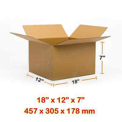 """SINGLE WALL POSTAL MAILING CARDBOARD BOX 18""""x12""""x7""""CHEAPEST Fast&Free Delivery"""