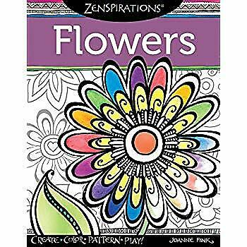 ✔️[177769] Zenspirations Flowers: Create, Color, Pattern, Play!