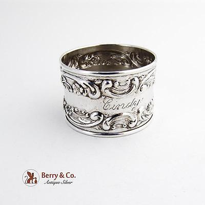 Rose Scroll Napkin Ring Sterling Silver Gorham Silversmiths