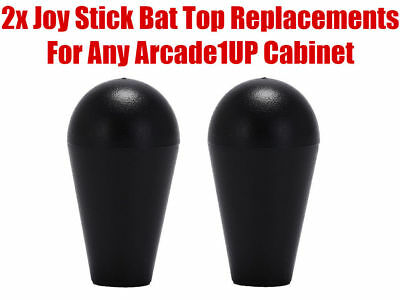 Arcade1up Mortal Kombat 2 Final Fight Dig Dug Joystick Bat Tops Handles Black