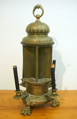 Antique French Lamp Brass Late 19th C. 3 Paw Feet Needs Some Restoration