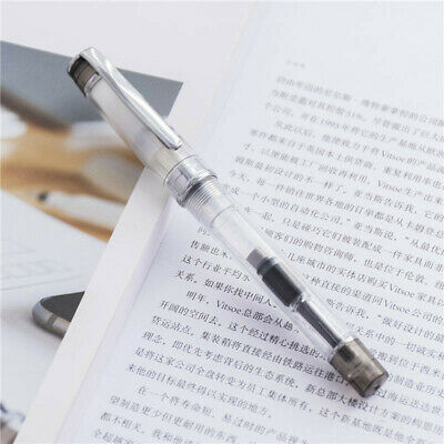 Wing Sung 3003 Black Transparent Fountain Pen Extra Fine Nib EF/0.38mm Students