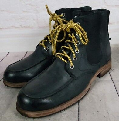 08587939503 UGGS AUSTRALIA MEN'S 9.5 Black Leather Lace Up Chelsea Boots 'Jarrett'  1003837