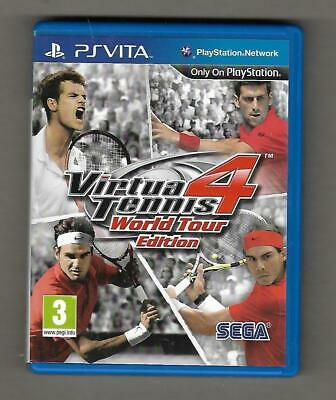 PSVita -Virtua Tennis 4 - World Tour Edition - Box & Instruction Booklet-NO GAME