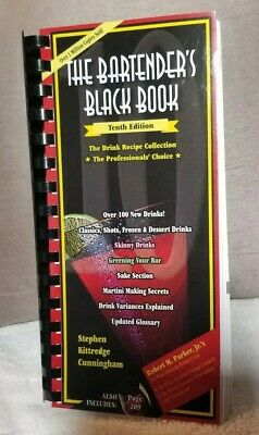 The Bartender's Black Book 10th Edition Over 100 New Drinks! Free Fast Shipping!