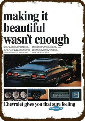 Metal Sign Vintage Look 1967 Chevrolet Camaro SS Rally Sport Coupe
