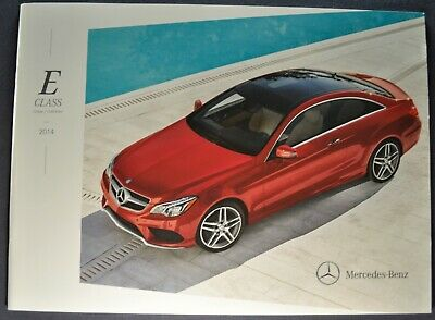 2014 Mercedes-Benz E-Class Brochure E350 E550 Coupe Cabriolet Excellent Original