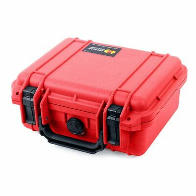 Red & Black Pelican 1200 Case with Foam.