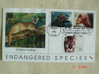 Endangered Species 32c Stamps FDC Dynamite Covers Cachet Sc#3105h,i,m Panther