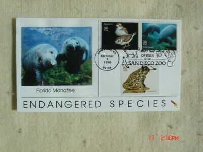 Endangered Species 32c Stamps FDC Dynamite Covers Cachet Sc#3105g,n,o Manatee