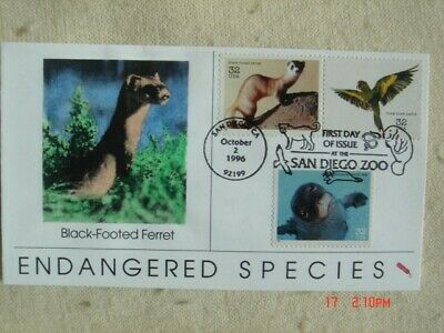 Endangered Species 32c Stamps FDC Dynamite Covers Cachet Sc#3105a-c Monk Seal