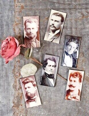Victorian Trading Co My Lover From Another Life Vintage Photograph Magnets 6pc