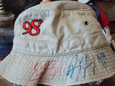 98 Degree Hand Signed Hat 5 Signatures Jeff, Drew Authentic Autographs by Artist