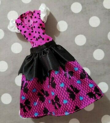 Monster High Doll Clothing How Do You Boo? 1St Day School Draculaura Pink Dress