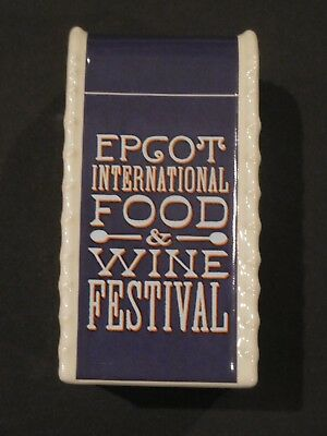 NWT WDW EPCOT International Food and Wine Trash Can Salt or Pepper Shaker