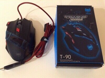 1f25496af92 Zelotes T-90 Prof 9200 DPI High Precision USB Wired Gaming Mouse 8 Buttons
