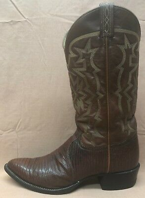 dd258a1df82 TONY LAMA COWBOY boots .. style 8573 .. brown lizard .. Men's 9 1/2 ...