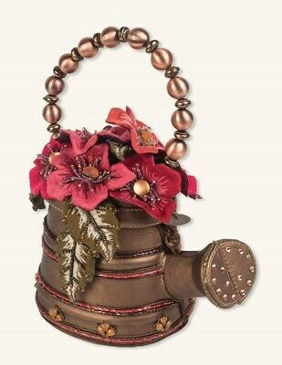 Victorian Trading Co Mary Frances Tend to Your Garden Jeweled Watering Can Purse