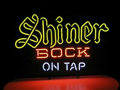 """New Shiner Bock On Tap Beer Light Lamp Party Wall Decor Neon Sign 17""""x14"""""""