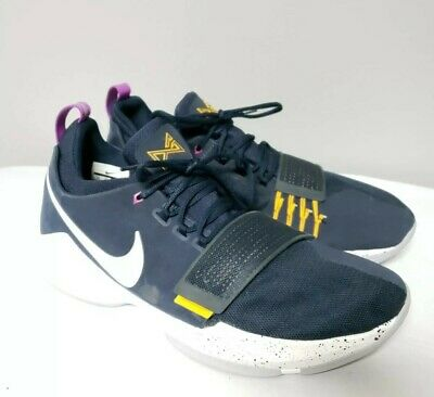 9186ad6bca12 Nike Men s Paul George PG 1 Shoes Size 14 Obsidian Basketball White 878627- 417