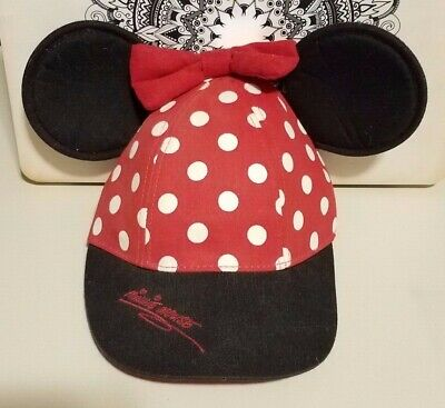 a3fdf58c WALT DISNEY WORLD Kids/Toddler Polka Dot Minnie Mouse Hat With Ears ...