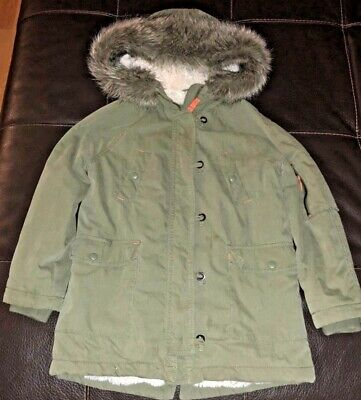 MINI BODEN GIRLS GREEN PARKA - Size 9-10 years old