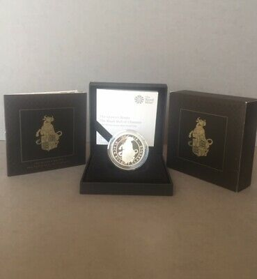 2018 One Ounce Silver Proof Coin The Queen's Beasts Bull