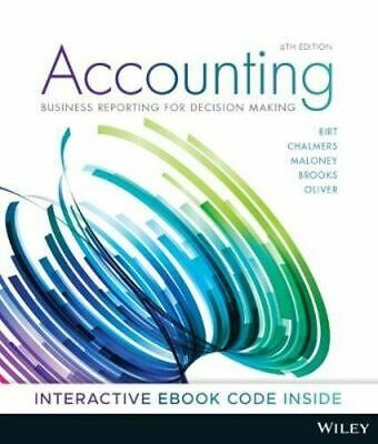 NEW Accounting : 6th Edition By Jacqueline Birt Paperback Free Shipping