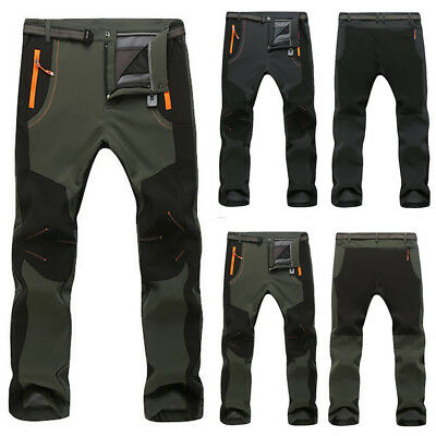 AU Men's Couple Waterproof Windproof Outdoor Hiking Winter Thick Pants Trousers