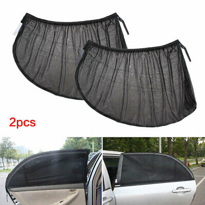 Rear Car Window Sun Shade Mesh Blinds Protector Car Screen Visior Cover 1 Pair