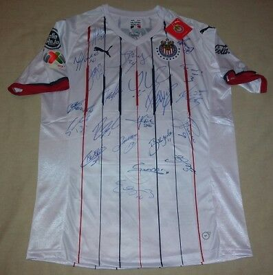 96470947e 2019 Chivas Guadalajara Team autographed signed autographed Away Mexico  Proof