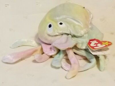 8698ca5dc0f Jelly Fish Beanie Babies Lot Large Buddy Small Goochy Baby Vintage Ty  Plush.