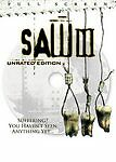 NEW SEALED Saw III (DVD 2007 Unrated Full Screen) FREE US SHIPPING