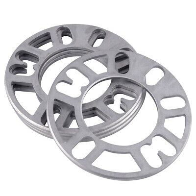 4/5 Stud 5mm Adaptor Shims Aluminum Alloy Wheel 4PCS Tire Spacers Plate Styling