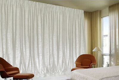 Large Thick Velvet Curtains Stunning Flocking 270x230cm+2m blockout+15 Hook