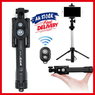 3 in 1 Folding Tripod Bluetooth Mini Extendable Selfie Stick Wired Mobile Phone