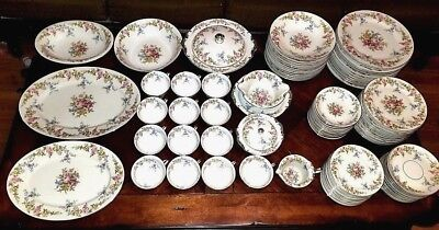 KPM Royal Ivory Germany 93 Pc. Normandie Gold Floral China Dinner Set, Complete!