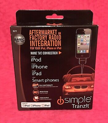 UNIVERSAL FM CAR INTEGRATION KIT FOR IPOD//IPHONE w// REMOTE PAC iSimple IS77PRO