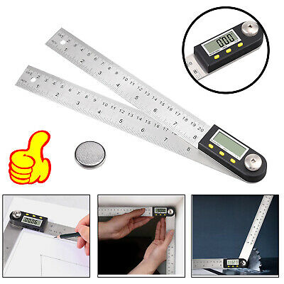"0-360° Protractor Ruler Electronic 8"" LCD Digital Angle Finder WITH batteries"