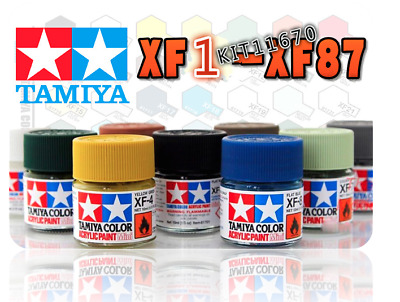 Tamiya Flat Acrylic Model Kit Paint 81701-81786 XF-1 to XF-87 10ml NEW  田宮 タミヤ