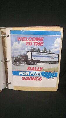 1984 Rally For Fuel Savings Trucker scrap book with pictures and documents (r257
