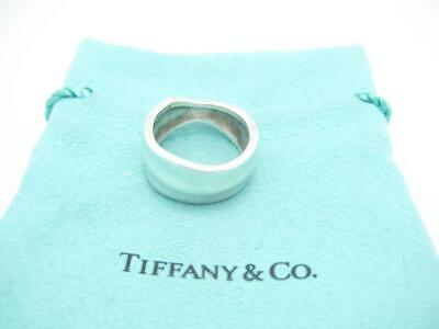 Tiffany & Co. Sterling Silver Nature Leaf Band Ring Size 6 - Pouch