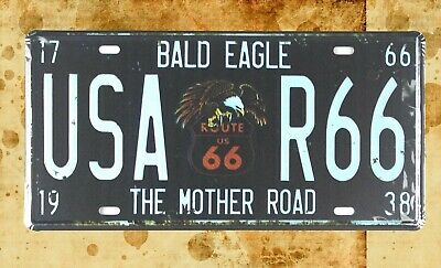 US Seller- popular wall art living room Bald Eagle USA R66 tin sign car plate