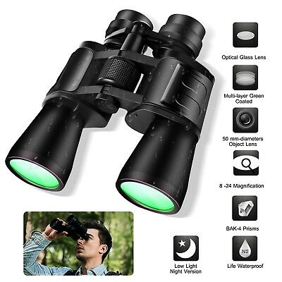 180 x 100 Zoom Day Night Vision Travel Outdoor Binoculars Hunting Telescope+Case